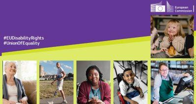 """L'immagine scelta per la copertina della nuova Strategia Europea per i Diritti delle Persone con Disabilità 2021-2030 """"Union of Equality"""""""