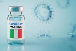 La rappresentazione di una fiala di vaccino anti-Covid-19.